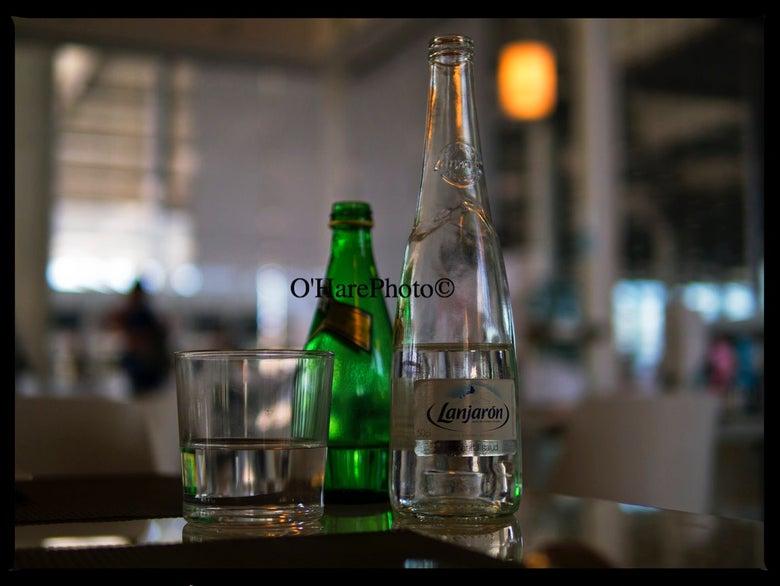 Image of BOTTLES & A GLASS • Custom Framed