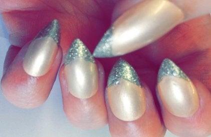 Image of Blush Nude Glitter Tips