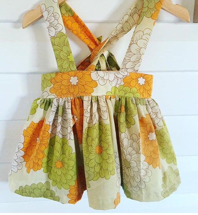 Image of Vintage bloom suspender skirt
