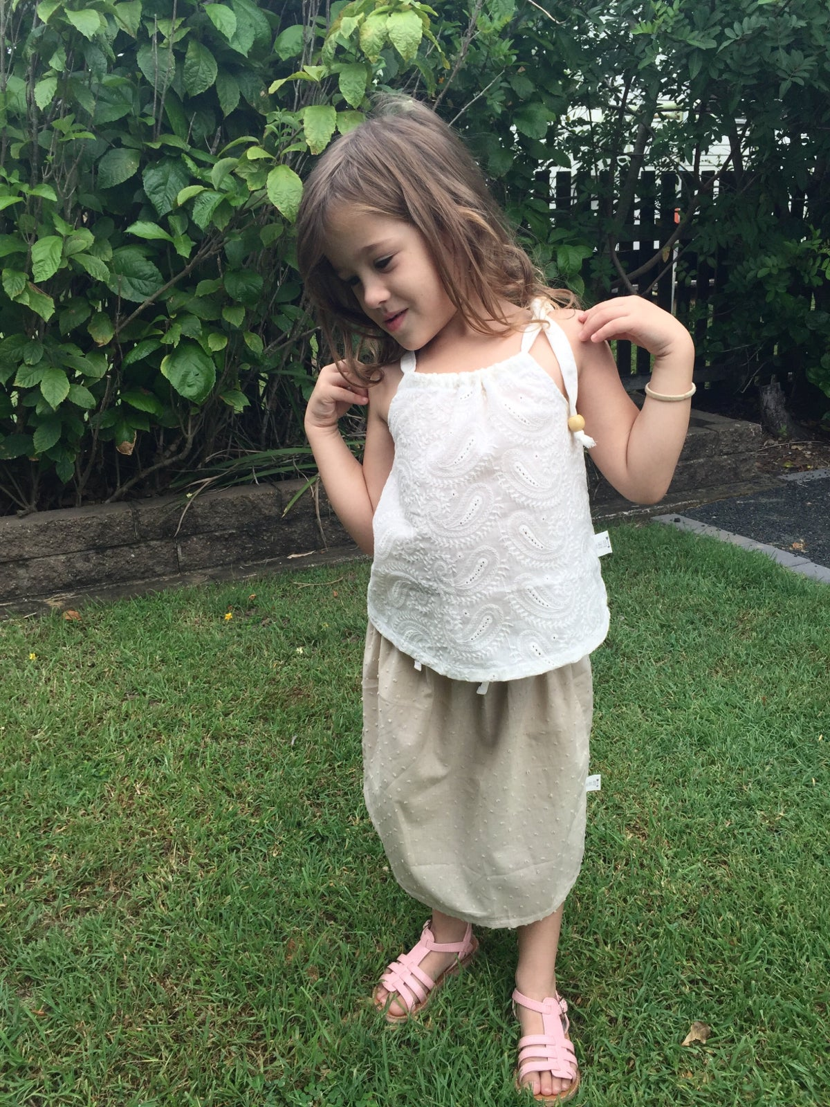 Image of Floral midi skirt