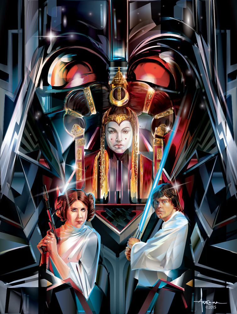 Image of STAR WARS - FAMILIA- 18x24 edtn50 2016