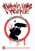 Image of AKP Sticker - Crow-Man Symbol 4x3in. in white. (2 stickers for $1) Free with any order!