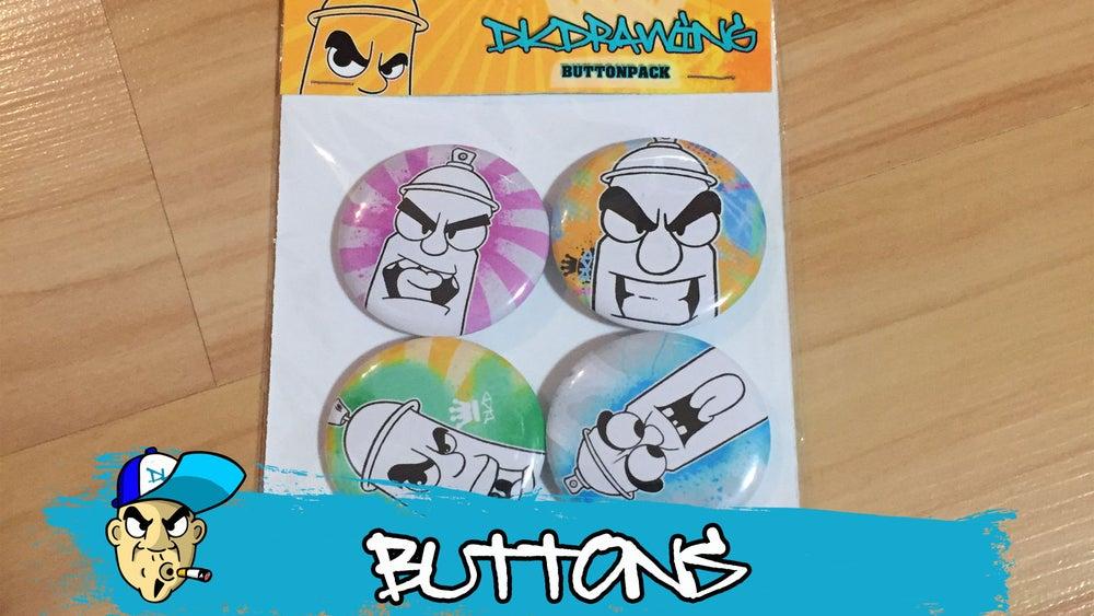 Image of Graffiti Spraycan Buttonpack 1ST Edition