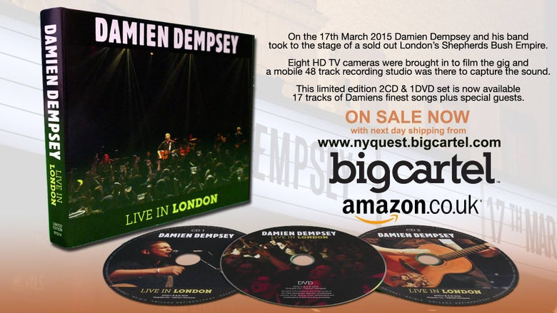 "Image of Damien Dempsey ""Live In London"" Limited Edition Triple Disc CD/DVD"