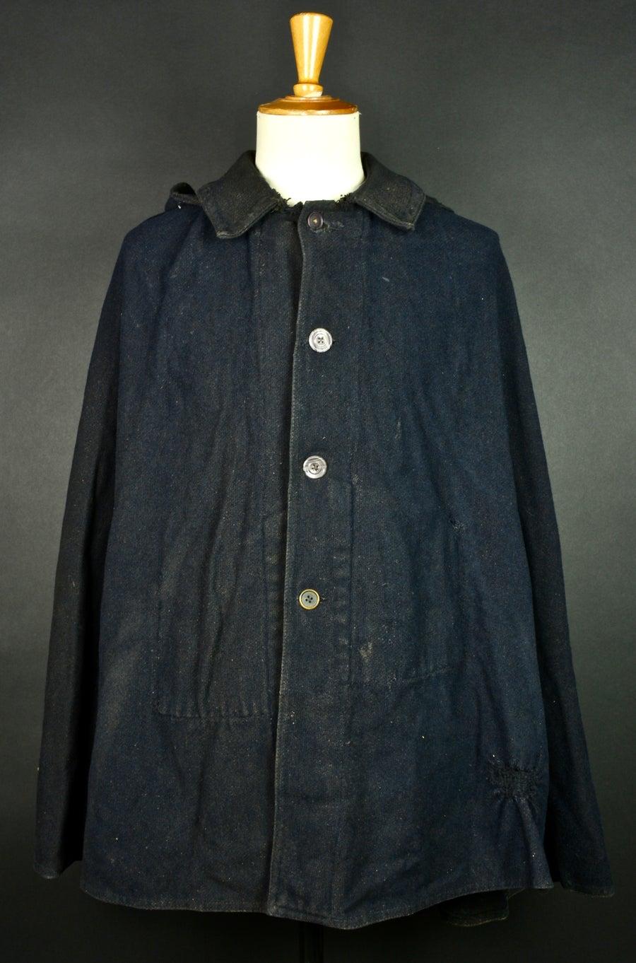 Image of 1900's FRENCH WOOLEN CLOAK COAT CAPE