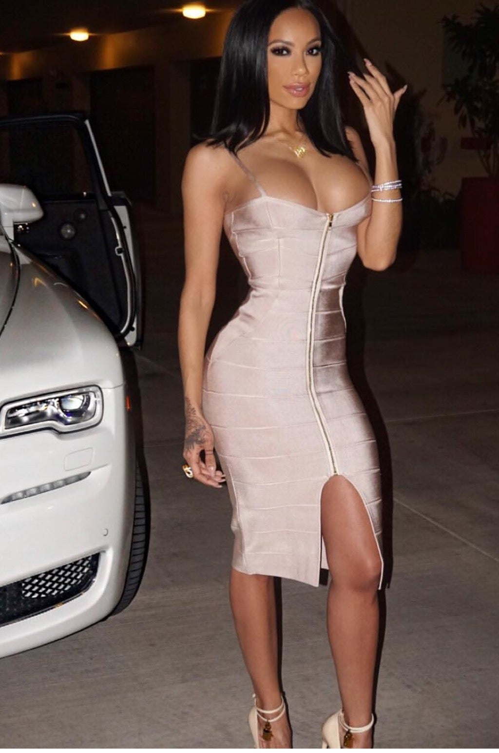 Sequin Long Sleeve Dress