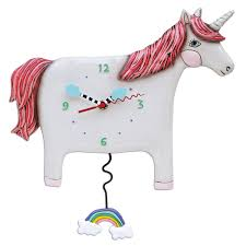 Image of Buttercup the Unicorn Clock