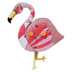 "Image of Pink Flamingo ""Crazy Legs"" Clock"
