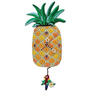 "Image of Pineapple ""Island Time"" Clock"