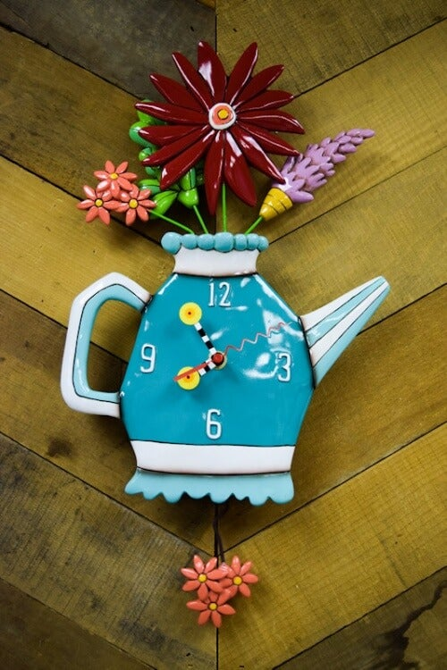 Image of Spring Bouquet Clock