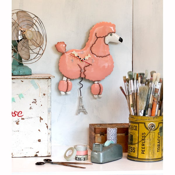 Image of Frenchie Poodle Clock