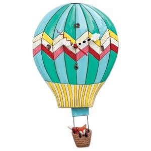 Image of Fox Hot Air Balloon Clock