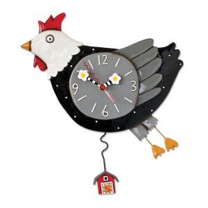 Image of Flew the Coop Chicken Clock