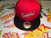 Image of Sonz of God snap back & sticker pack Red/Blk