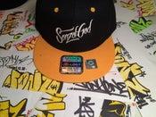 Image of Sonz of God snap back & sticker pack blk/ yel