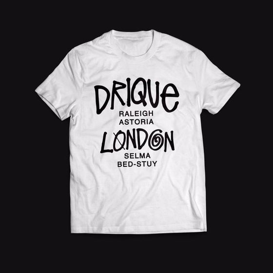 """Image of Drique London """"The Town"""" Tee (White)"""