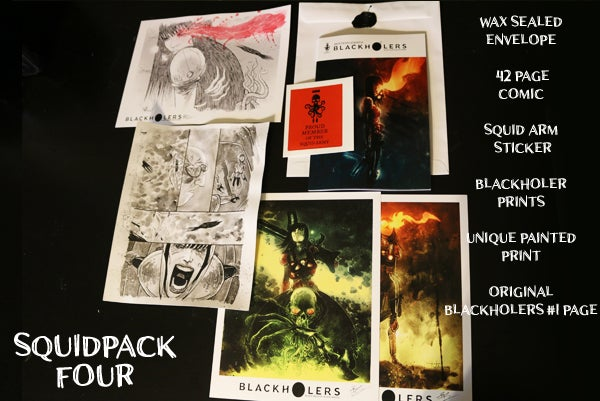 Image of BLACKHOLERS #1 & SQUIDPACKS