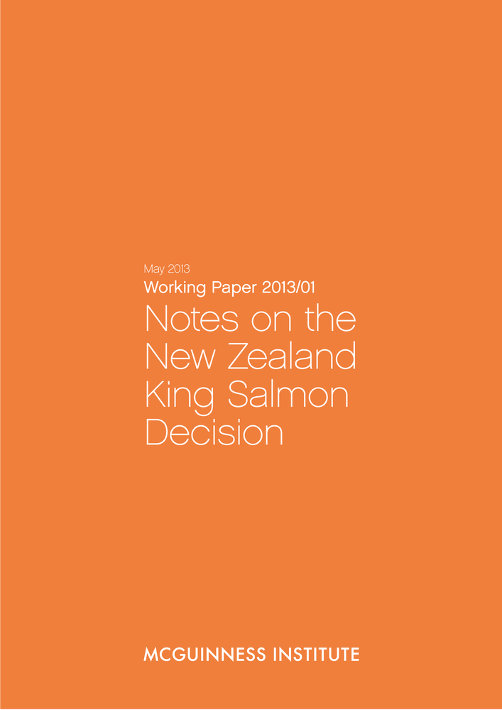 Image of 2013 Working Paper: Notes on the New Zealand King Salmon Decision