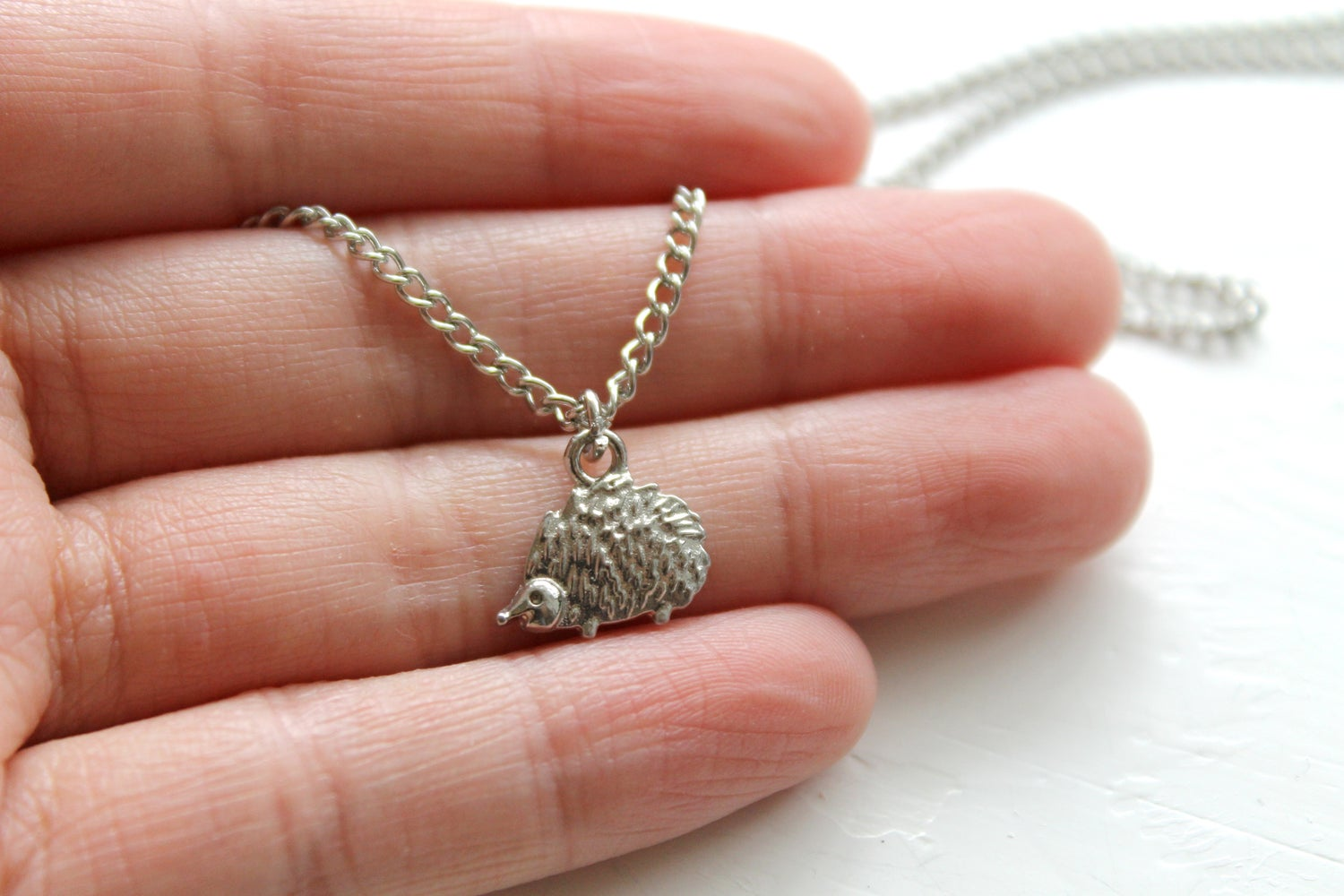 Image of Tiny Hedgehog Necklace (40% off!)