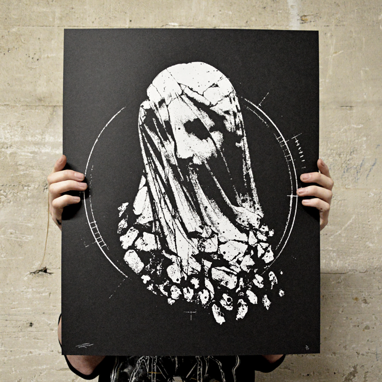 """Image of """"Shattered"""" screen print"""