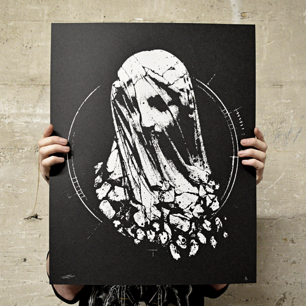 "Image of ""Shattered"" screen print"