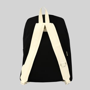 Image of Simple Canvas Backpack - Black