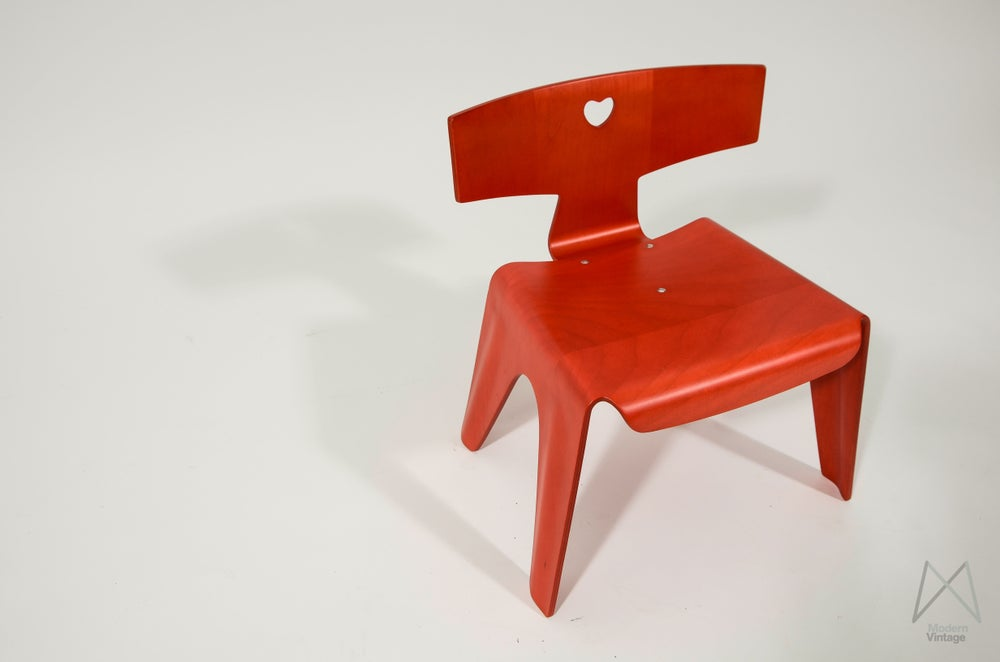 Image of Eames Childs Chair Red Vitra Childrens Furniture