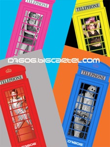 Image of D7606 Limited Edition Telephone Box Signed and Numbered Prints