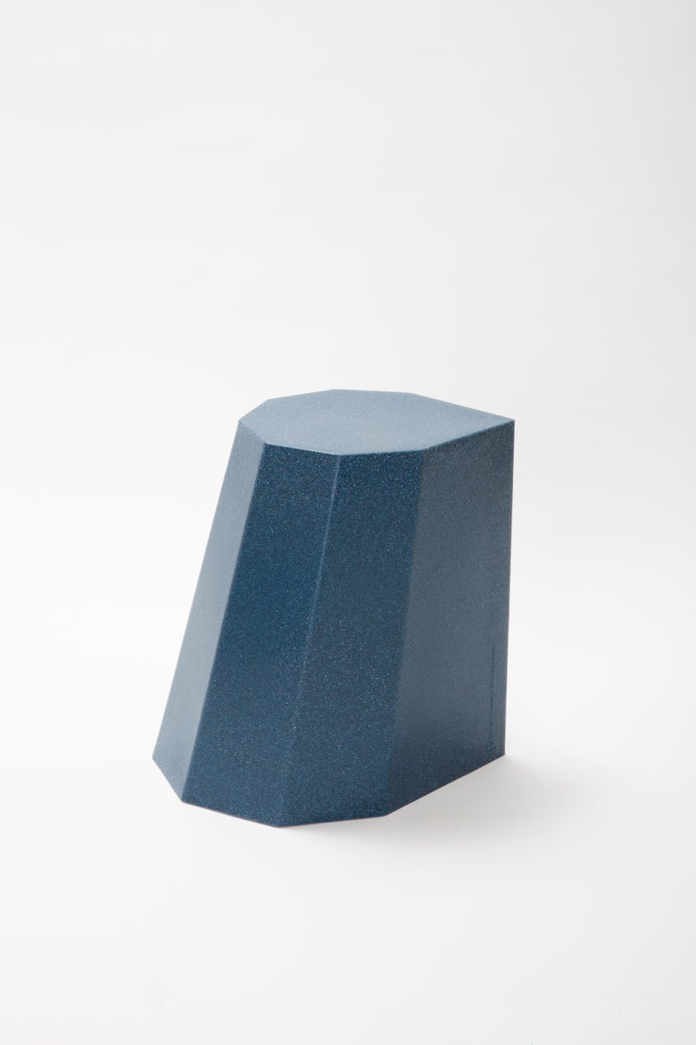 Image of Arnold Circus Stool Blue Mottle