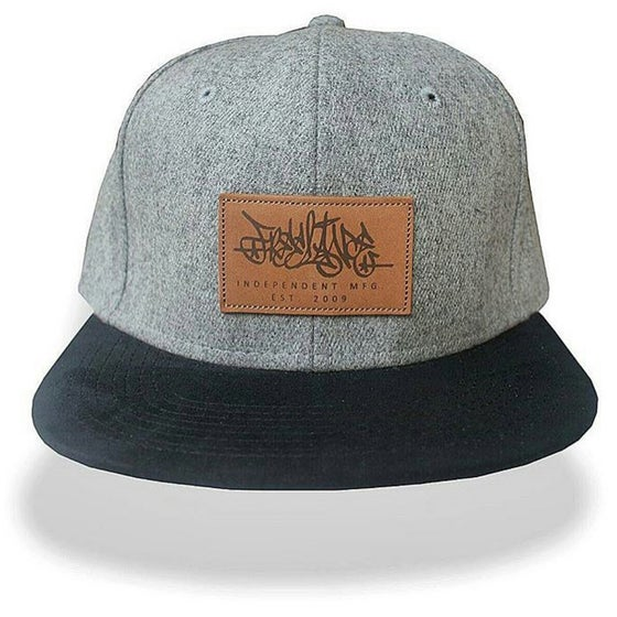 Image of Grey Wool Strapback Cap