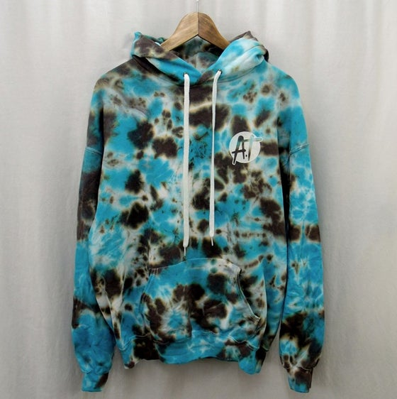 Image of Water//Earth tie dye hoodie