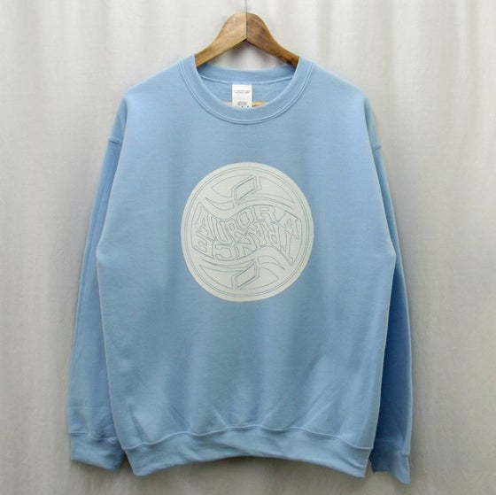 Image of Baby blue twisted logo sweatshirt