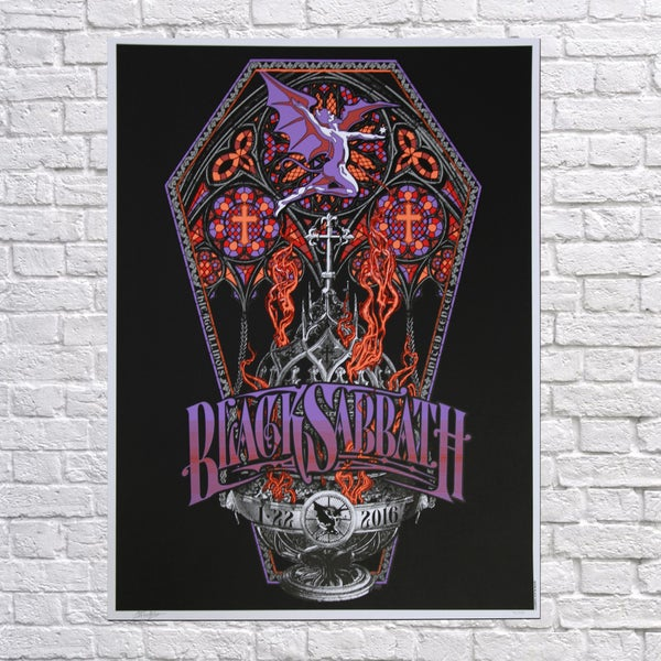 Image of BLACK SABBATH 'Botafumeiro' Chicago Poster