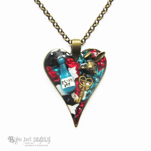 Image of Alice's Drink Me Small Heart Pendant