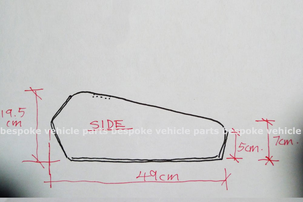 Image of Cafe Racer Honda CG125 / CB125 Fuel Tank/ Plain Series - Right handed cap