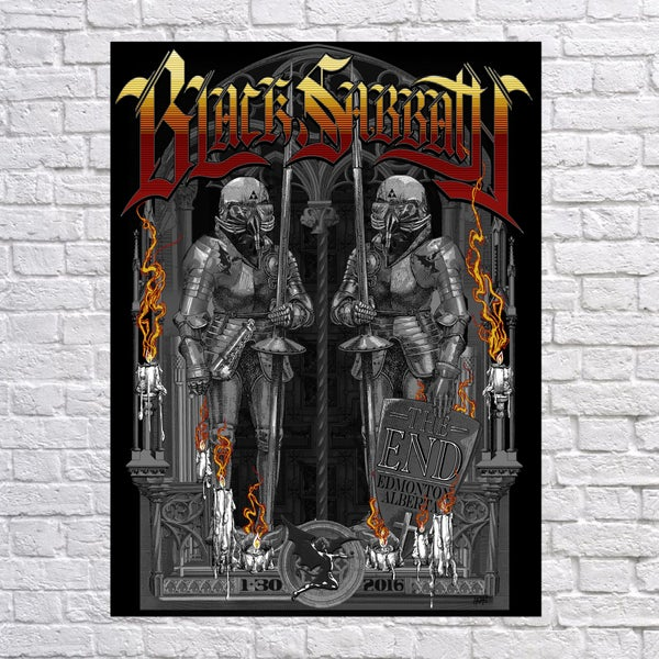Image of BLACK SABBATH 'Knight's Watch' Alberta Poster