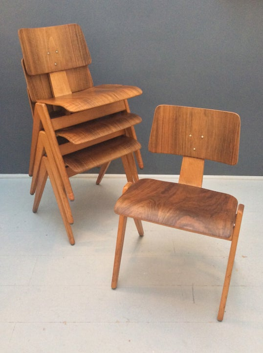 Image of Set of Four Hille Stak Chairs by Robin Day