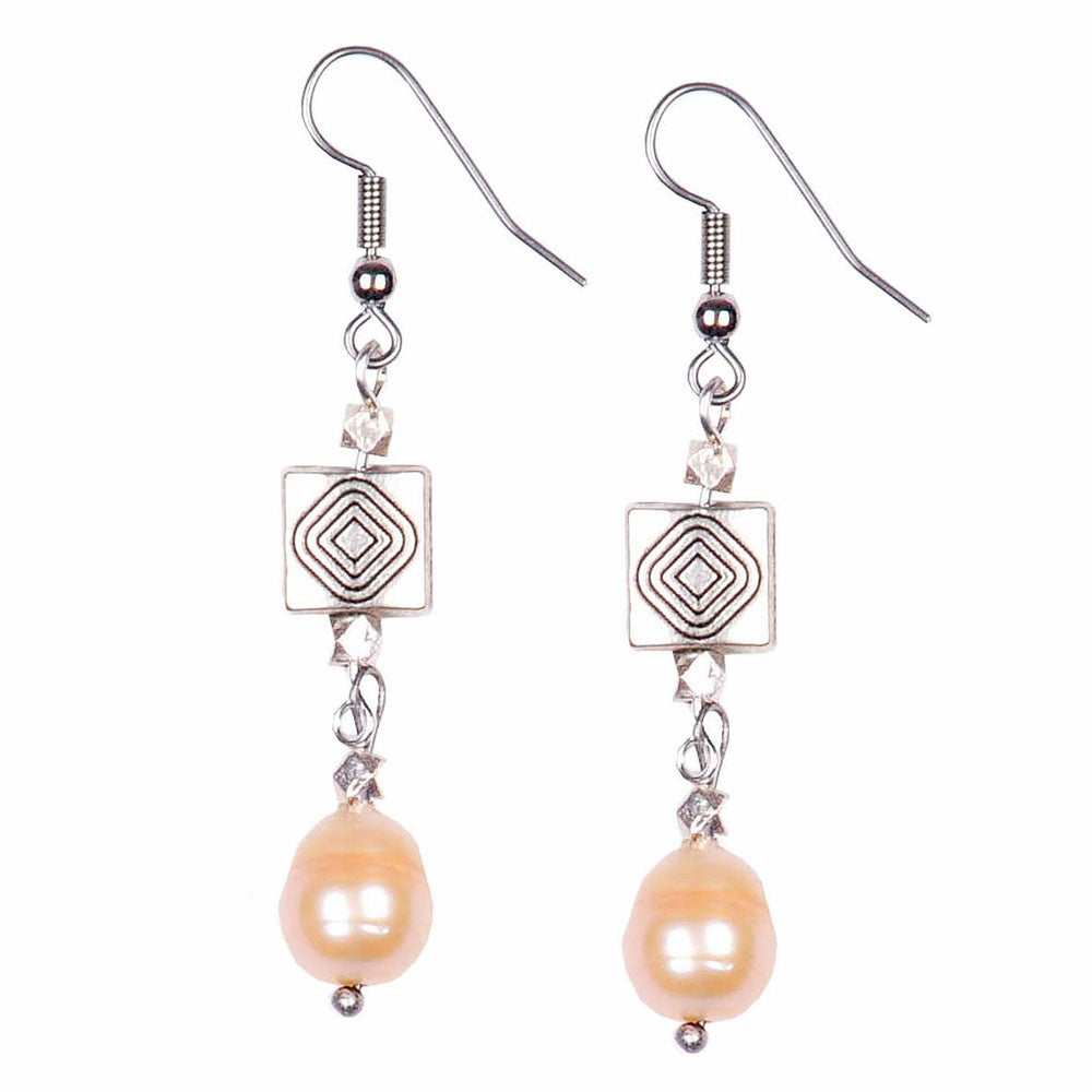 Image of ART DECO PEARL EARRINGS
