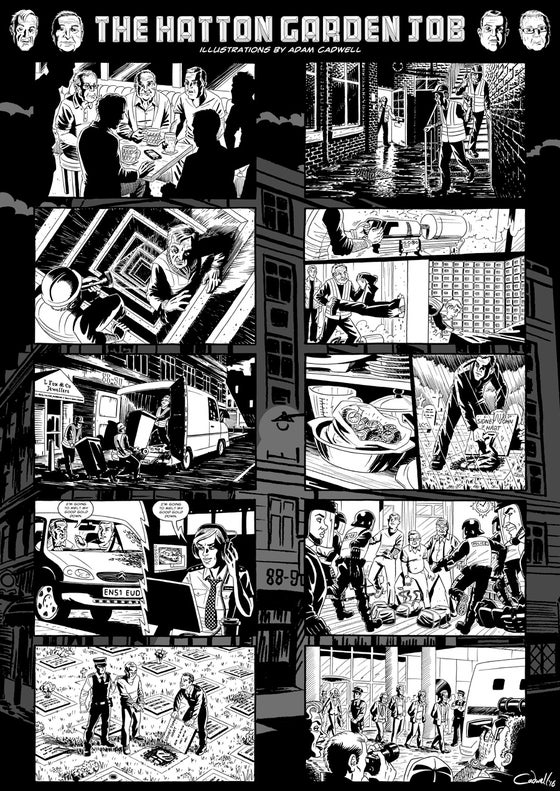 Image of 'The Hatton Garden Job' limited print