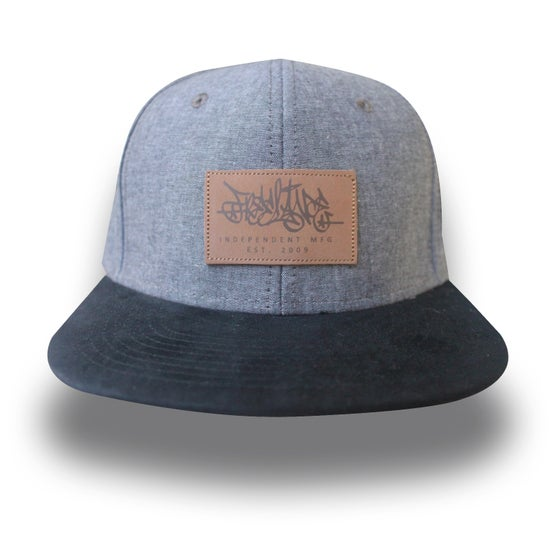 Image of Black Chambray Strapback