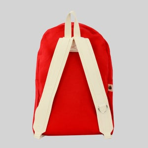 Image of Simple Canvas Backpack - Red