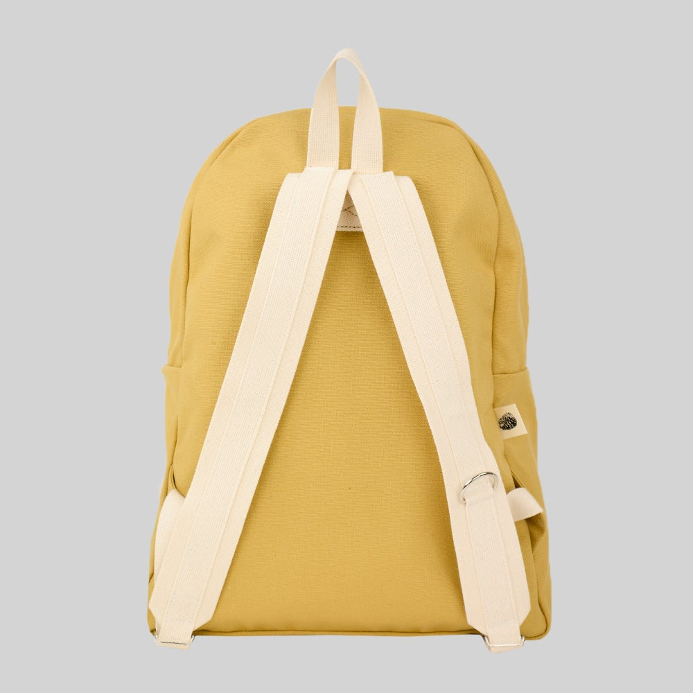 Image of Simple Canvas Backpack - Tan