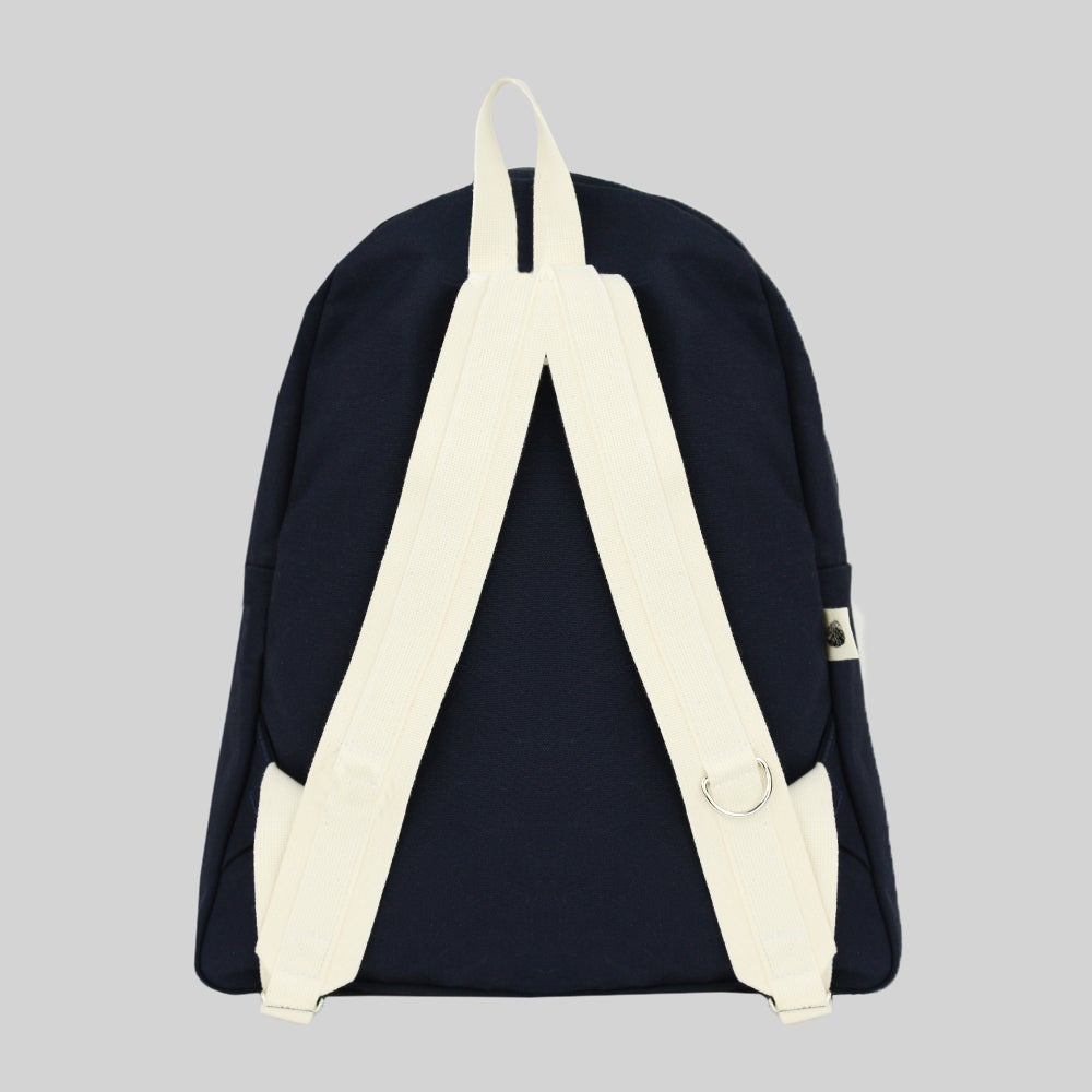 Image of Simple Canvas Backpack - Navy