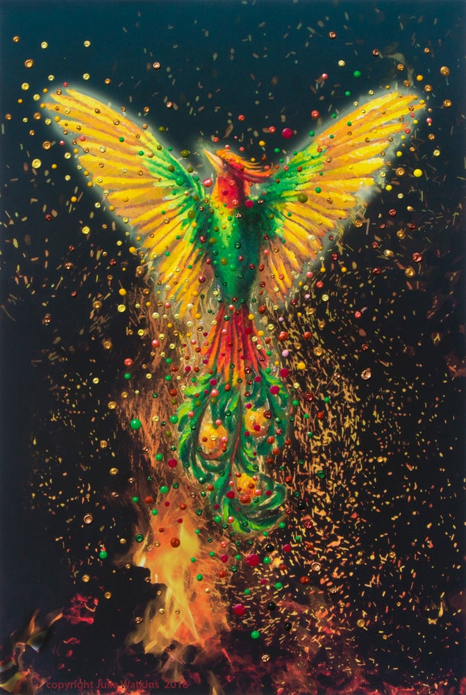 Image of Phoenix Rising Energy Painting - Giclee Print