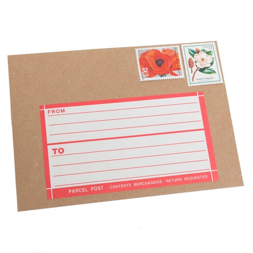 Image of Dennison Dark Pink Parcel Post Address Label Booklet