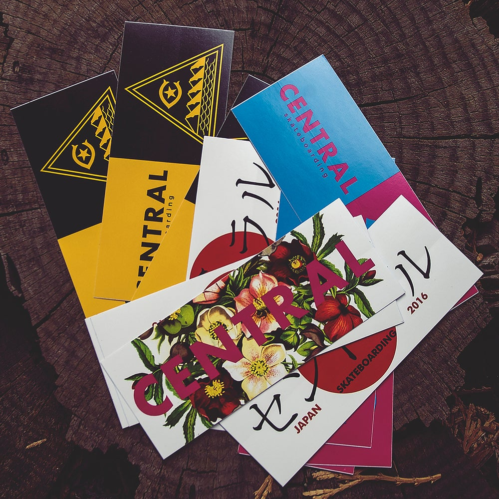 Image of Central Skateboarding Sticker Pack.