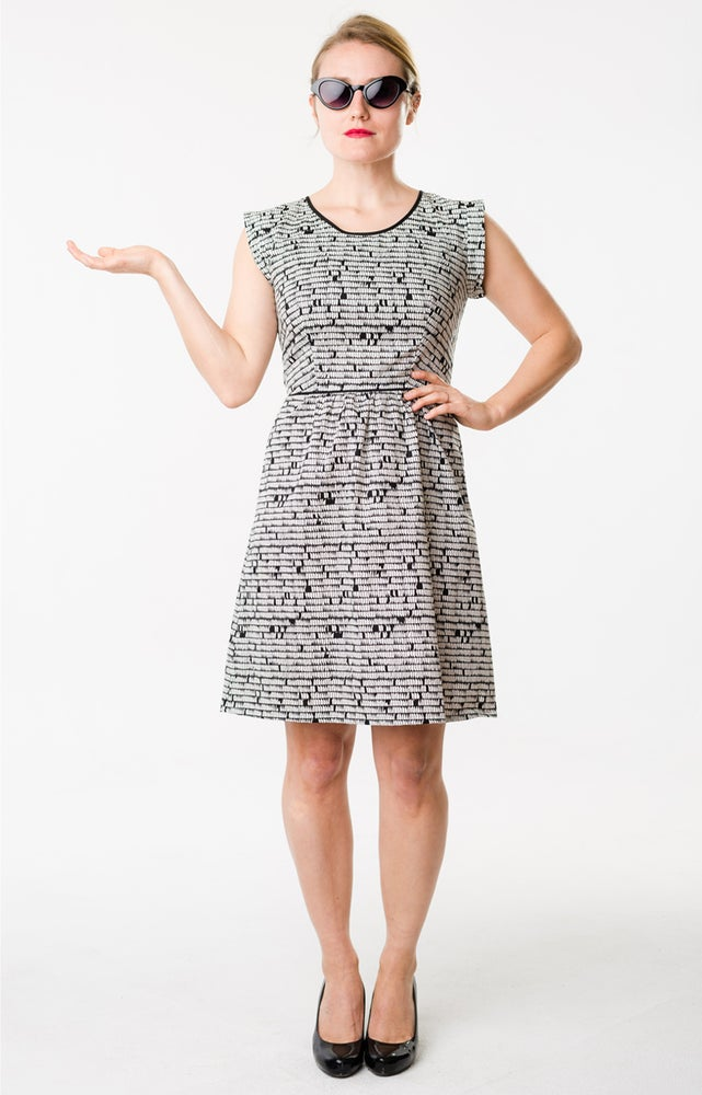 Image of ROXY DRESS: ABSTRACT IN BLACK