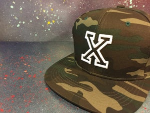 Image of Camouflage With White X Snapback