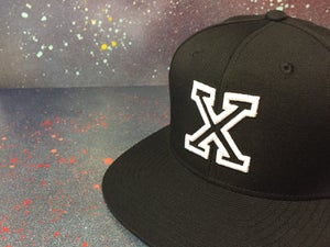 Image of Black With White Outline X Snapback