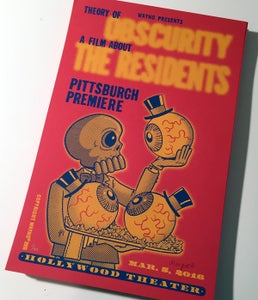 """Image of THEORY of OBSCURITY: a film about THE RESIDENTS 11"""" x 17"""" S/N Silkscreen Print"""